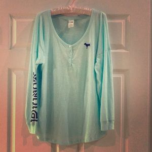 PINK by Victoria's Secret Long Sleeve Campus Tee